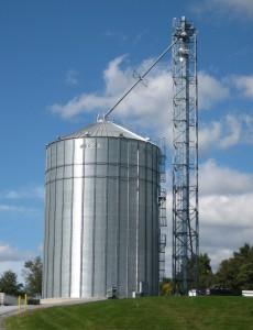 White Oak corn bin